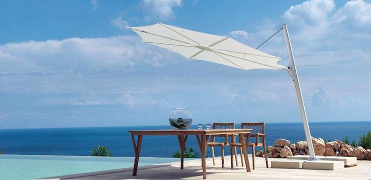 Fan garden umbrella by Unopiù #umbrellas #outdoor #unopiu