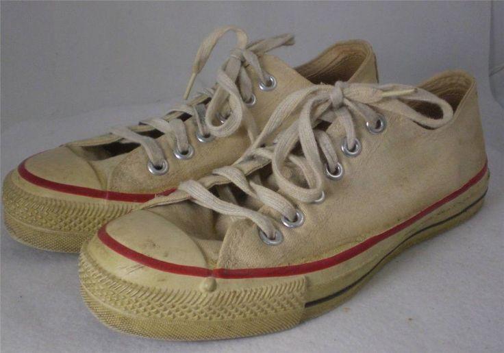 Vintage Mens Converse All Star Low Cut Sneakers Tennis ...