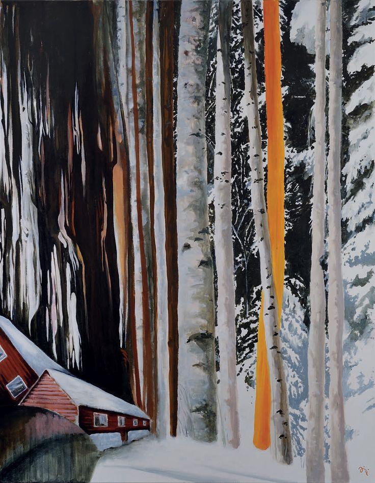Jiří Hauschka: Thickets, 2013, acrylic on canvas, 150 x 115 cm