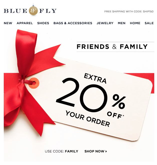 Blue fly email design