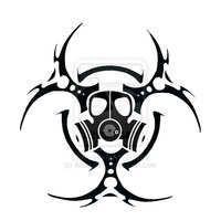 Steampunk Tattoo Stencils | Biohazard Symbol Tattoos Page 2