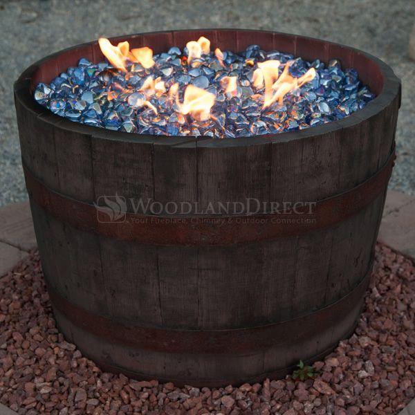 Wine Barrel Fire Pit Rust Outdoor