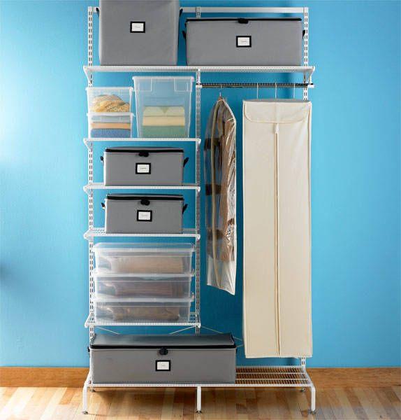 Simple way to keep your closet organized #closet #clothes #shelf #organize