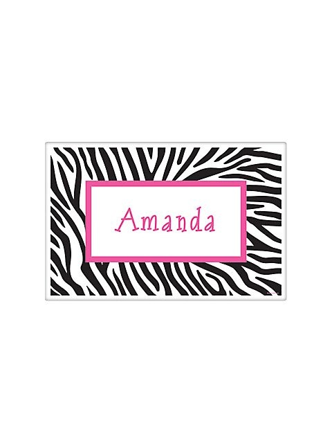 Zebra Party Personalized Placemat