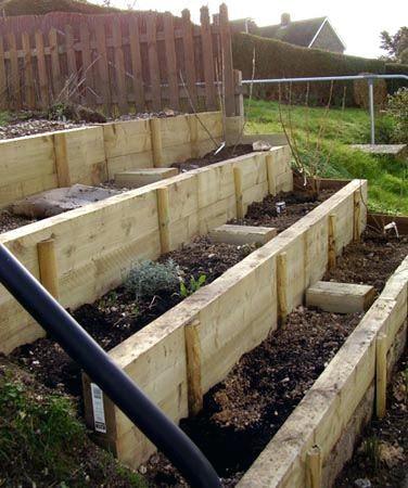 how to build a terraced garden on a slope raised garden ...