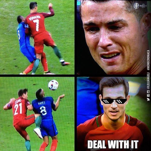 Payet brutalnie sfaulował Cristiano Ronaldo • Tak Cedric Soares zemścił się za faul na Cristiano Ronaldo • Finał Francja Portugalia >> #football #soccer #sports #pilkanozna