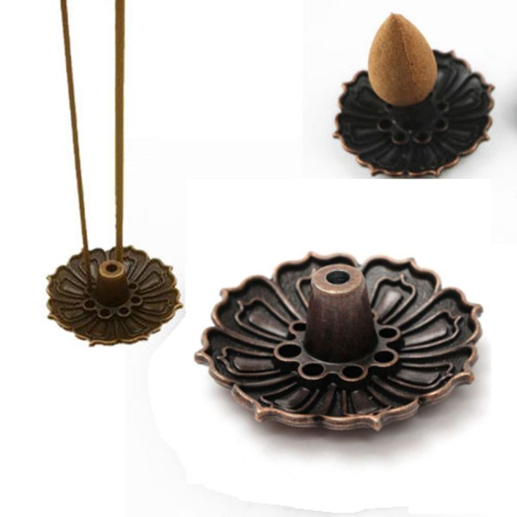 1Pcs Lotus Shape Metal Incense Plate Burner Holder 9 Holes for Stick Cone Incense Aromatherapy Buddhist Craft Gift Home Decor