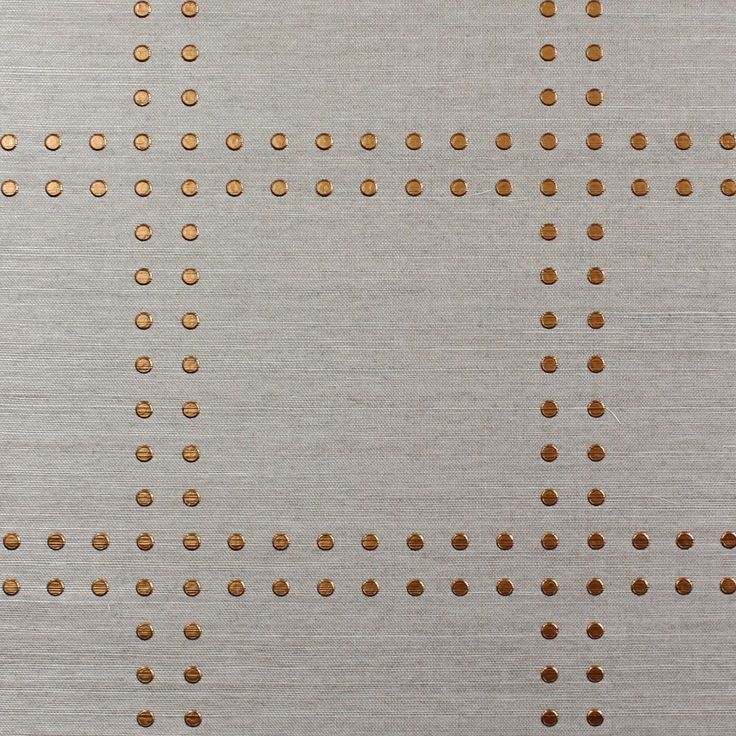Phillip Jeffries Rivets in steel grey for RTT Study with cherry wood, antique brass, polished nickel and gloss white: