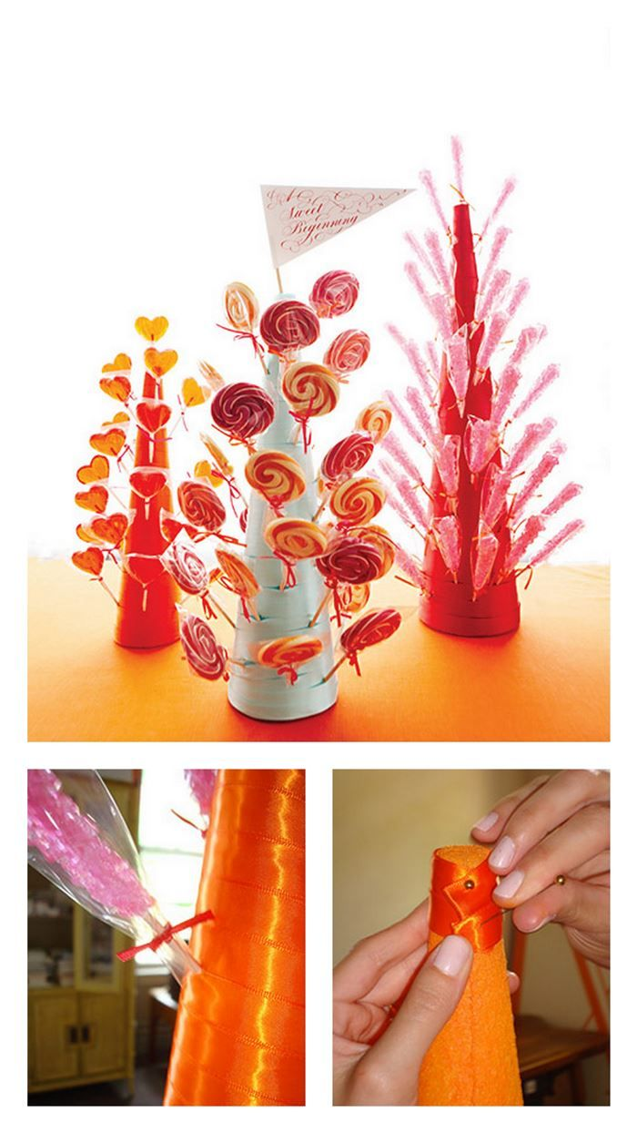 I have a bunch of lollipops we can give away and display all cute DIY Lollipop Stand in Just 5 Simple Steps!