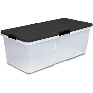 extra large plastic storage bins with lids
