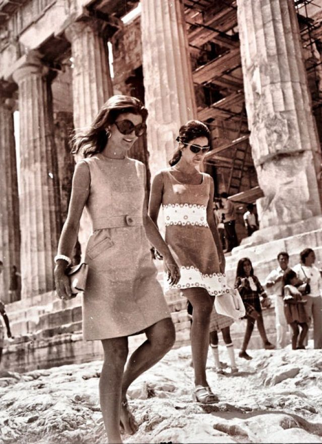 Athens, 7th of August 1979. Jackie Onassis at Acropolis