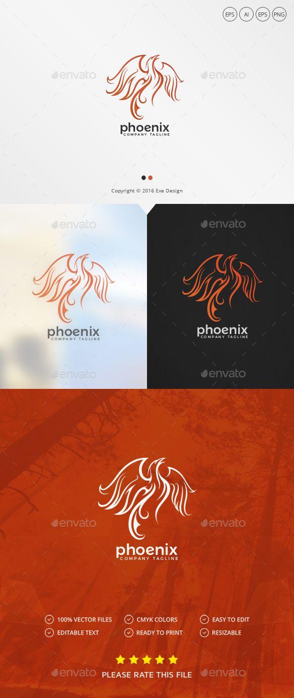 Phoenix Logo — Photoshop PSD #hotel #royal • Download ➝ https://graphicriver.net/item/phoenix-logo/19191426?ref=pxcr