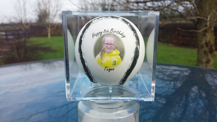 Personalised hurling sliotar in cube