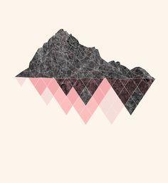 Mountains Illustration Print // Kids Room Decor // darksilenceinsuburbia