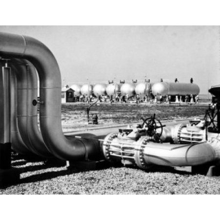 USA Kansas Ulysses Natural gas pipelines in refinery Canvas Art - (18 x 24)