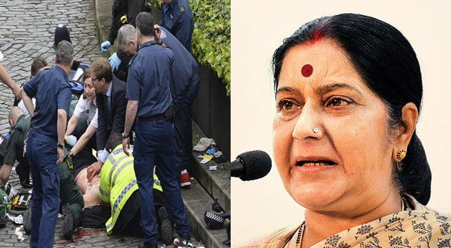 New Delhi: External affairs minister Sushma Swaraj on Wednesday night said there is no Indian casualty so far in the 'terror' attack near UK Parliament in which three people have been killed and over 20 people are injured. The external affairs minister said she is in constant touch...