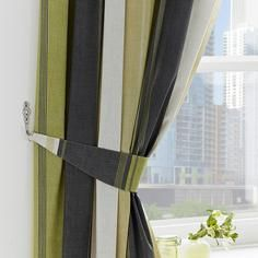 Green Finley Collection Pencil Pleat Curtains