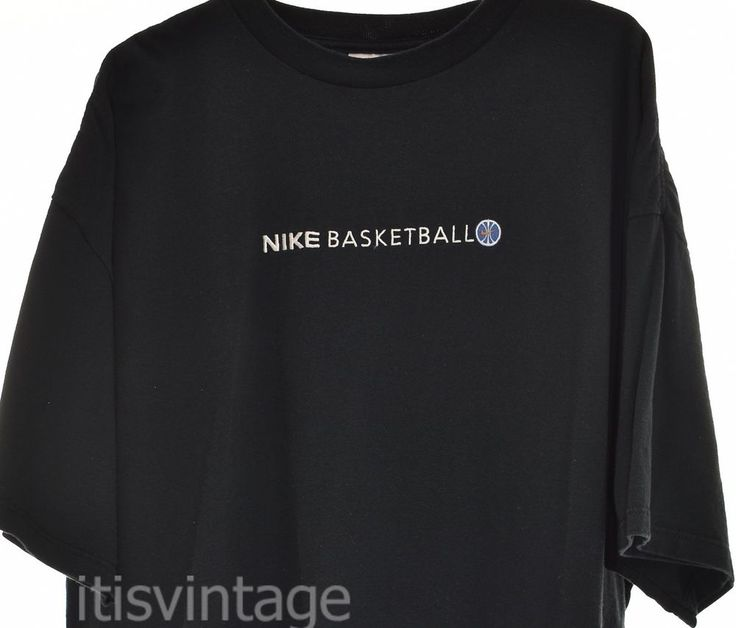 Vintage 1990's Nike Basketball Made in USA XXL Black Short Sleeve T Shirt 2XL | Clothing, Shoes & Accessories, Men's Clothing, T-Shirts | eBay!
