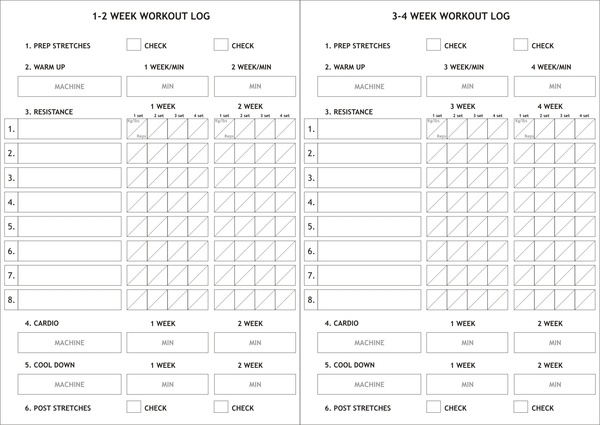 58 best Journal \ Log images on Pinterest Activities, Cleanses - workout log sheets