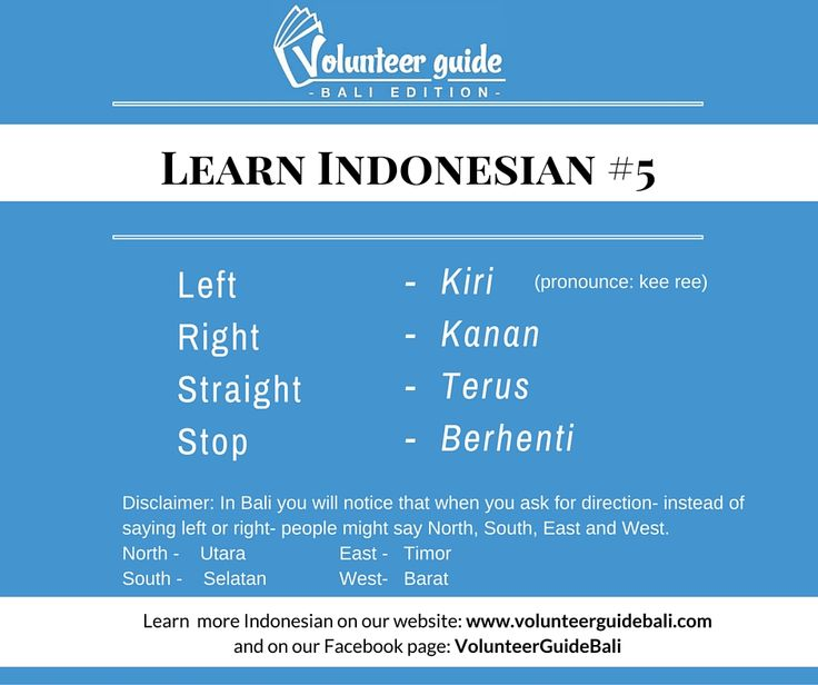 Directions in Indonesian