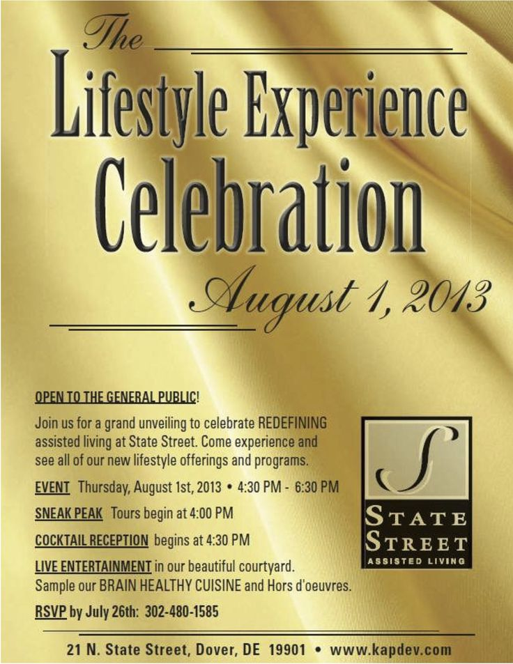 Join us on Aug 1st to celebrate REDEFINING assisted living at State Street. We have new lifestyle offerings and programs