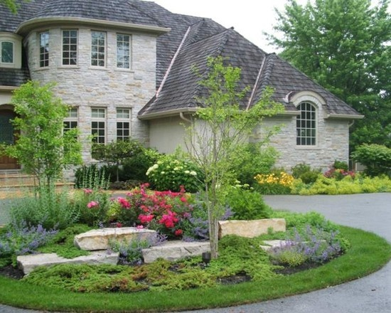 17 best images about front yard on pinterest circular for Circular driveway layout