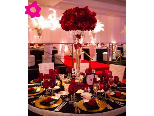 Combinación de colores para una boda color rojo. Te presentamos ideas de combinación de colores para una boda color rojo para la decoración de la boda.