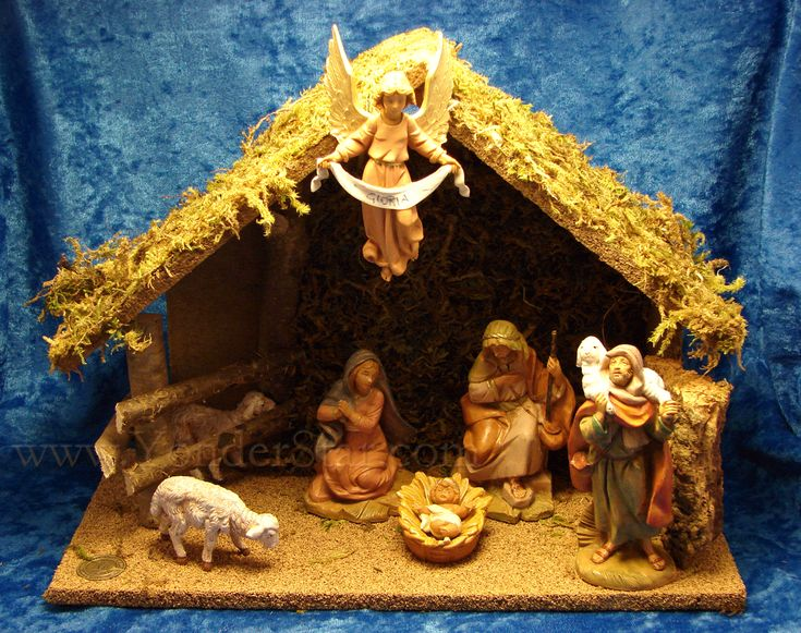 Inspiring Nativity Sets For Sale For Christmas Ornament Ideas: Fontanini Nativity Sets For Sale With Wooden Stable For Christmas Ornament Ideas