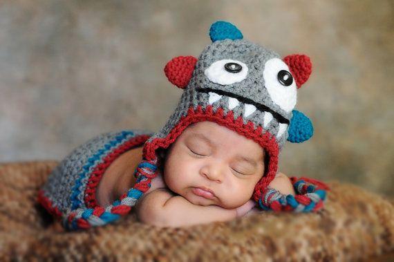 NEU Babymütze Monster von patrycja-art auf DaWanda.com