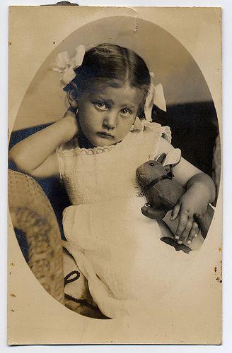 Girl With  Toy Rabbit by josefnovak33, via Flickr
