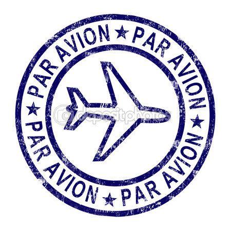 sello par avion muestra correspondencia en el extranjero por avión — Imagen de stock #11222523