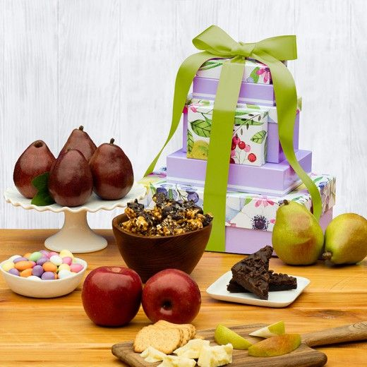 10 best easter gift baskets images on pinterest easter gift spring delight gift tower the fruit company negle Choice Image