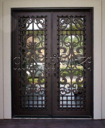 بوابات حديد خارجية للفلل والقصور الفخمة بارقي التصميمات الحديثة 29 Door Glass Design Metal Front Door Wrought Iron Doors