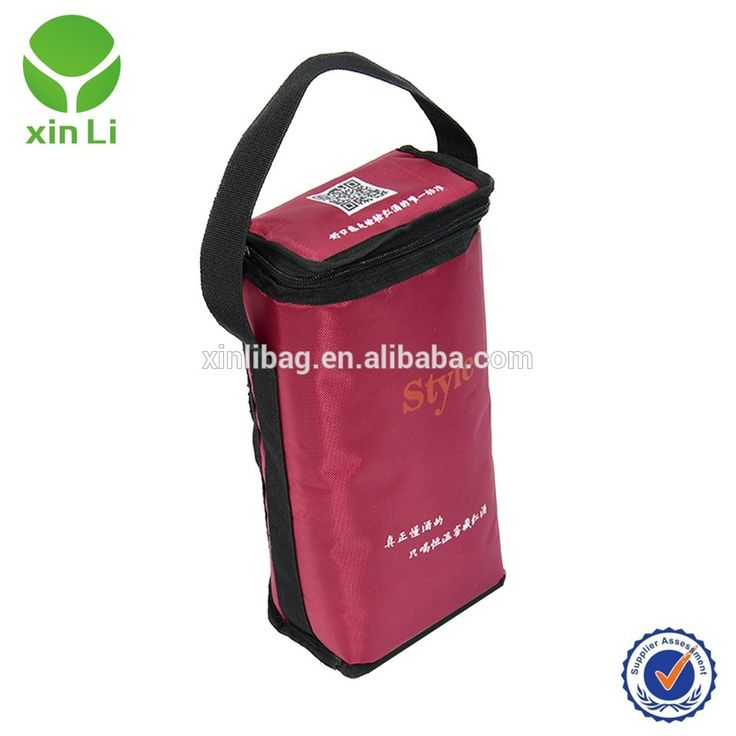 600D polyester durable insualted double wine bag