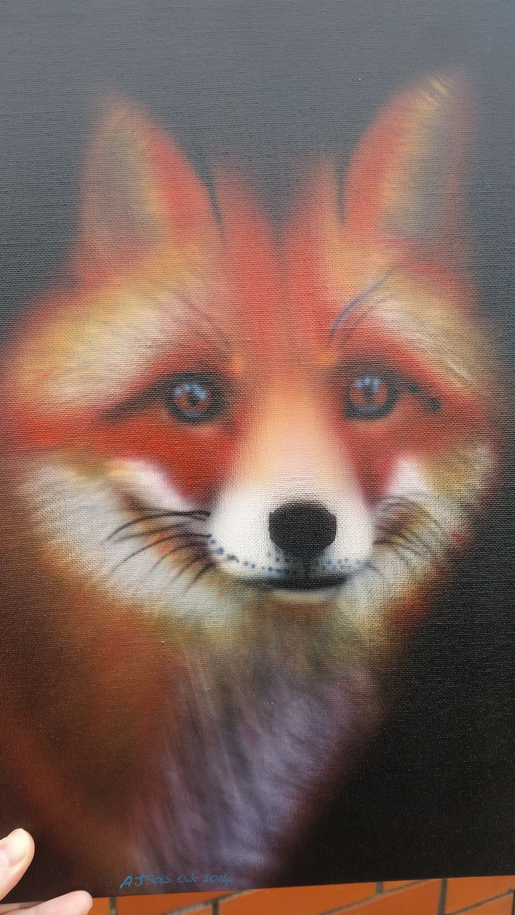 Fox I wanted to airbrushed for a long time By Andrew Ross