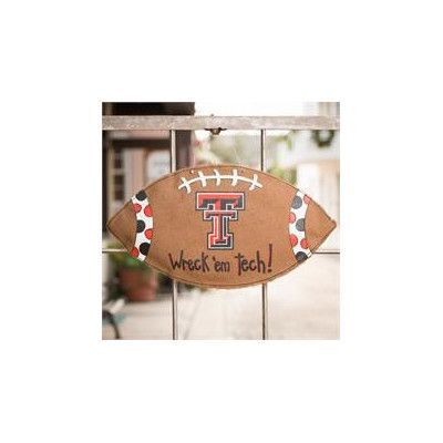 Glory Haus Texas Tech Football Burlee Garden Sign
