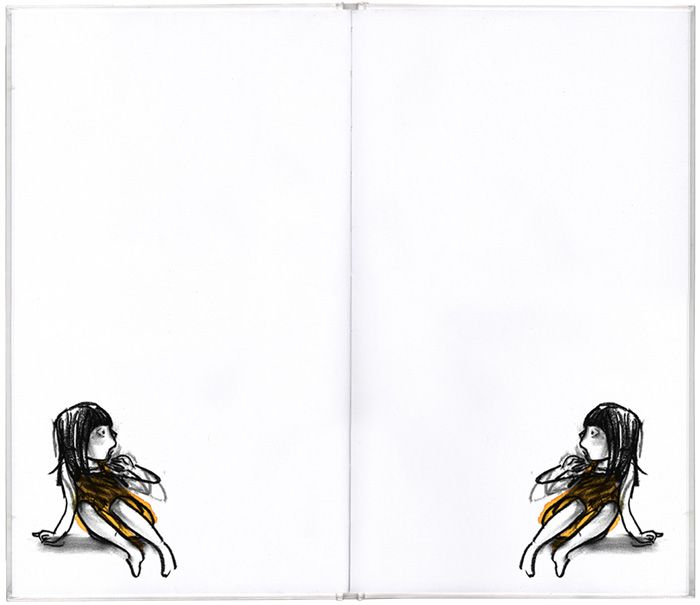 Spread from 'Mirror' by Suzy Lee