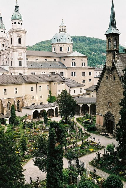 Travel Inspiration for Austria - St Peter's Cemetery - Salzburg, Austria. This is seen in The Sound of Music as well.