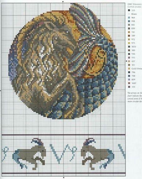 Borduurpatroon Sterrenbeeld Kruissteek *X-Stitch Pattern Zodiac ~Serie 4-1: Steenbok 23-12/20-01 *Capricorn~