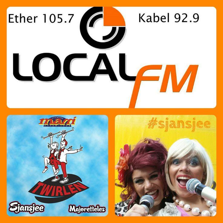 Luister morgenochtend rond 10.30 naar #LocalFm http://goo.gl/JwMp7q Sjansjee live op de #radio!
