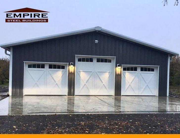 How To Make And Setup A Garage Shop Easy Diy Options Garageshop Organizeworkshop Workshopbui Garage Door Design Metal Garage Buildings Metal Shop Building