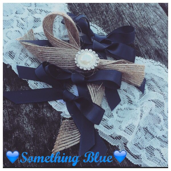 Something blue... Garters for the bride