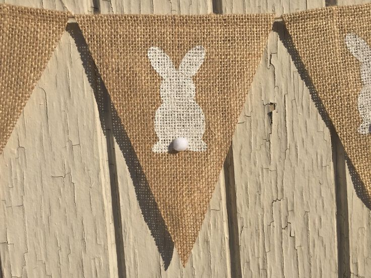 PETER COTTONTAIL Bunny Bunting, Easter Bunny Garland, Easter Burlap Banner, Easter Decor, Easter Decoration, Photo Prop, White Bunny by AlohaInspired on Etsy https://www.etsy.com/listing/262286550/peter-cottontail-bunny-bunting-easter