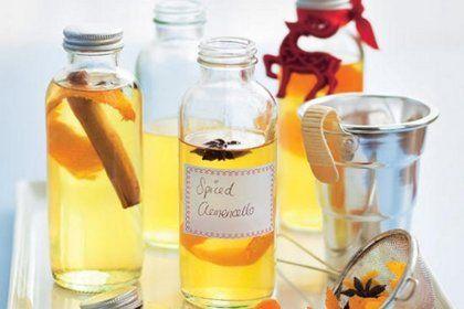 Лимонная водка, ликер из мандаринов