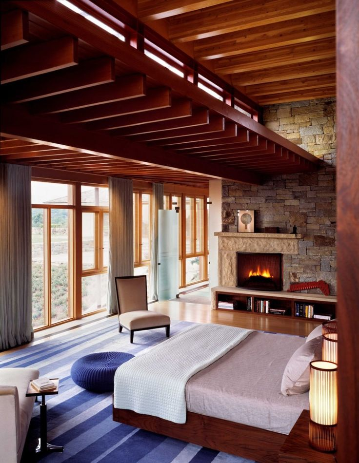 the lookout house bedroom ceiling interior design