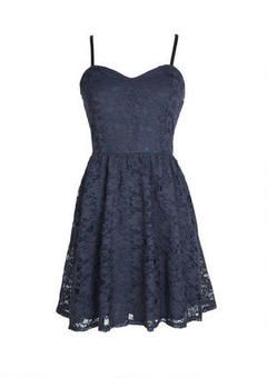 Lace Spaghetti Strap Dress