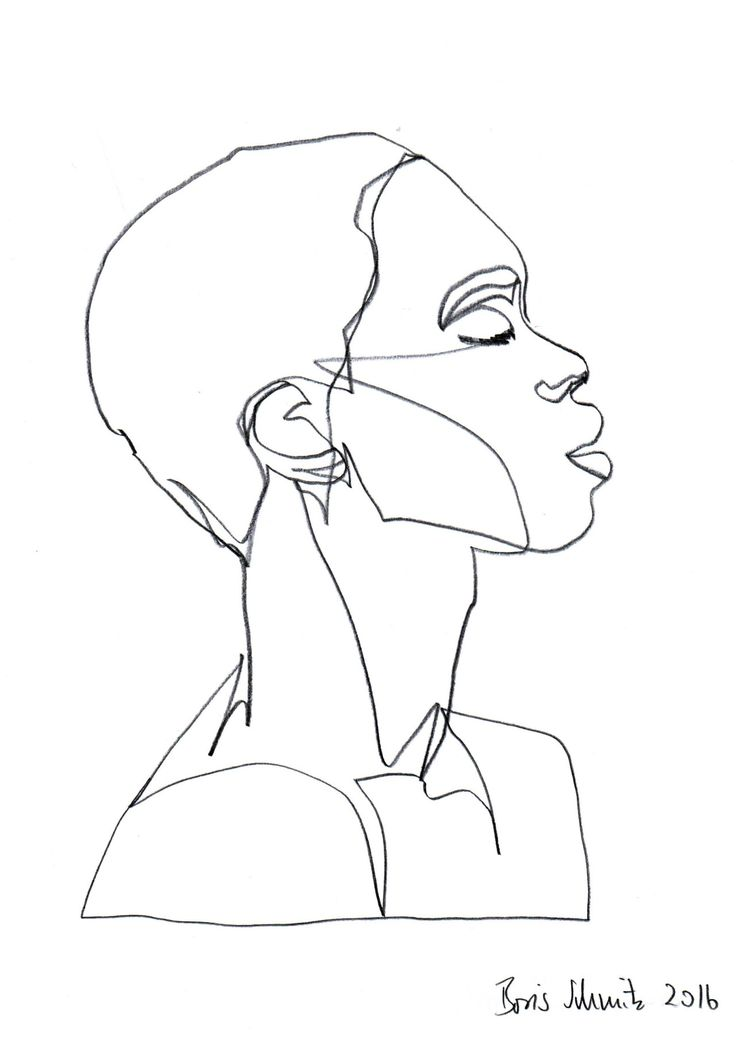 """Gaze 385″, continuous line drawing by Boris Schmitz"