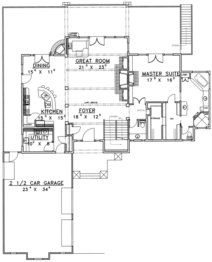 Walton ferry luxury log home house plans ranch style for Walton house floor plan