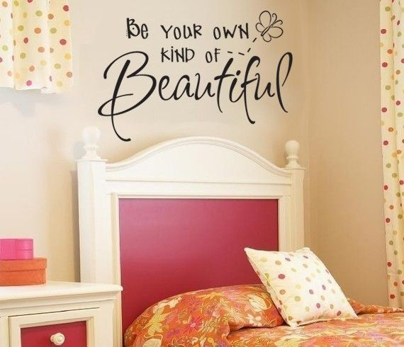 For my girls room. A hard thing to learn in this world.