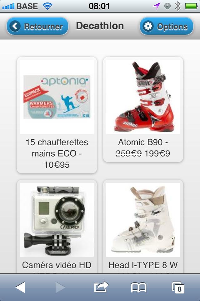 Decathlon has its Mobile Website ! - Mobilosoft